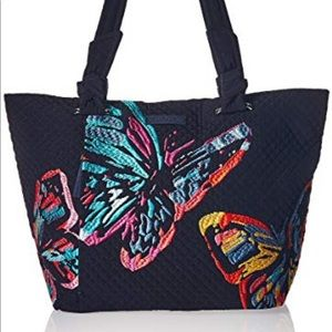Vera Bradley Butterfly Embroidered East West Tote